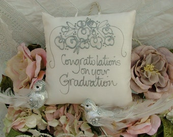 Hand painted pillow - Congratulations on your Graduation