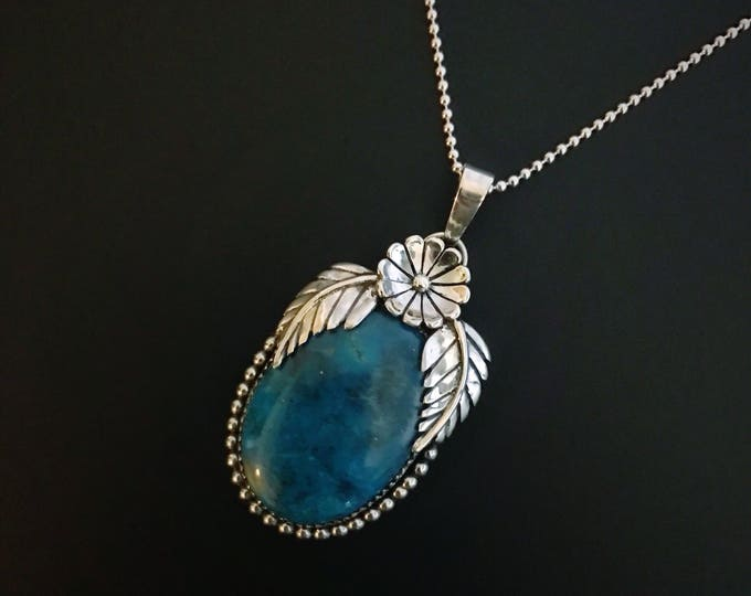 Shattuckite Sterling Silver Necklace