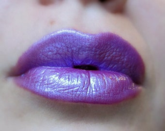 Rave - Purple / Blue Duochrome Lip gloss - Vegan - Gluten Free - Fresh - Handmade Cruelty Free