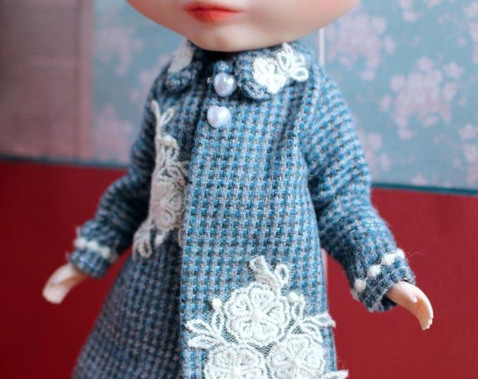 Blythe Licca Retro 60s Blue Coat Jacket
