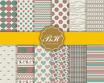 Sewing Digital Papers, Button Digital Paper, Sewing Background, Buttons Texture, Digital Sewing, Sewing Paper, Sewing Scissors Button Thread