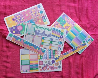 Planner Sticker Bundle - Paisley Fits Erin Condren Planner, Happy Planner and Others !  Kiss Cut Planner Stickers