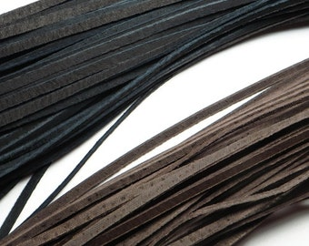 Thick leather cords - Black or Brown. 35 inch long.