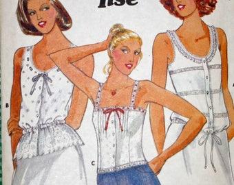 "Vintage,1970s,  Sewing Pattern, Butterick 5992, Jane Tise, 1970s Pattern, Misses', Tops, Misses' Size 8, Bust 31 1/2"" OLD2NEWMEMORIES"