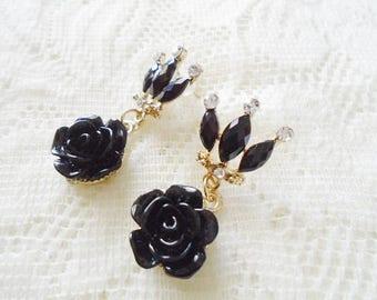 Gold plated Rose stud earring, Flower earring