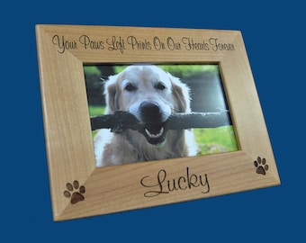 Pet Loss Frame ~ Dog Frame ~ Pet Loss Gift ~ Engraved Frame ~ Loss Of Pet Frame ~ Loss Of Cat Gift ~ Pet Picture Frame ~ Gift For Pet Loss ~
