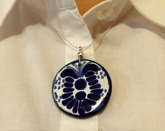 Mexican talavera necklace