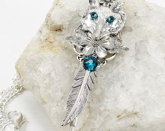 Wolf Key Pendant - Wolf Jewelry - Wolf Key Necklace - Keys - Key Pendant - Fantasy Key - Magical Key