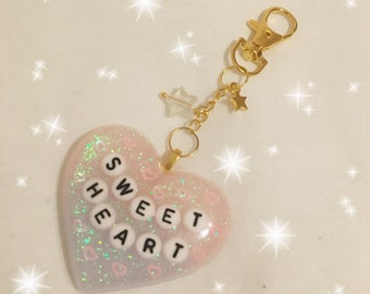 Kawaii ready to ship Sweet Heart keychain / bag charm