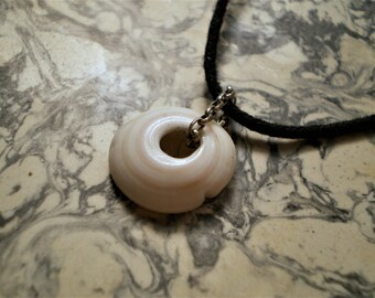 M/F shell Island, cotton and Silver 925 pendant