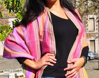 Scarf spring shawl, scarf shawl spring, Peruvian scarf, scarf in the color of the Rainbow, light and soft scarf