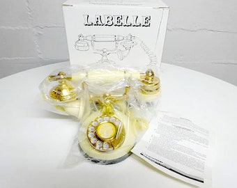 Vintage Labelle French Decorator Telephone With Classic Rotary Dial TTS-900, French Style Telephone - FREE SHIPPING