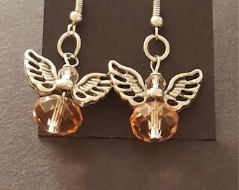 Earrings - Drop - Angel  Pink