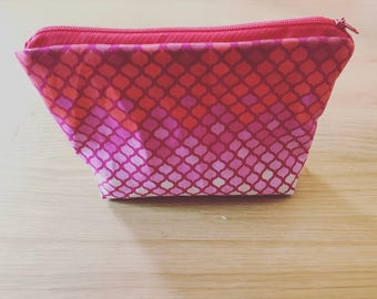Cosmetic purse Farverlauf Pink to red