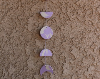 Lavender Moon Phase Wall Hanging (Boho Baby)