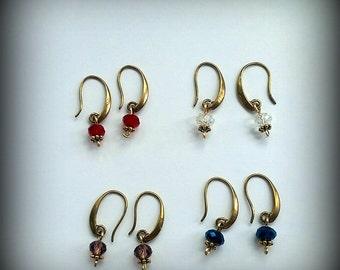 Crystal Earrings in Various Colors