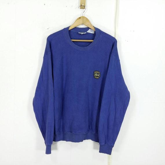 Vintage La Chemise Lacoste 90s Sportwear Lacoste Sport Jumper Sweaters Grey Lacoste Streetwear Sweatshirt OCXpuB34