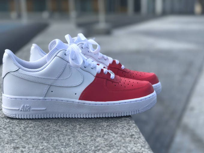Nike Air Force 1 Infrared Nose Custom