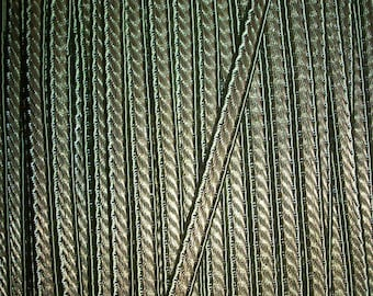 metallic antique gold and olive trim