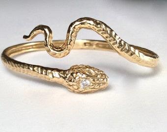 Snake bangle gold