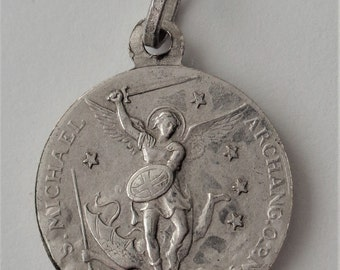 Vintage Religious Medal St. Michael The Archangel