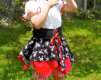 Pirate costume sizes 2 - 8 /  Birthday /  Dress up / Pageant /  Halloween / Trunk /