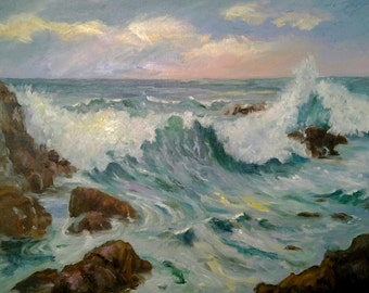 Sunset Cliffs Oil Painting SOLD