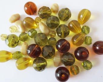 50gr assortment AUTUMN glass beads