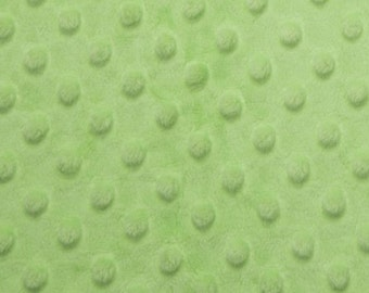 Lime Sherbet Dimple Dot Minky Blanket  Lime Green Blanket Green nursery Toddler Green Blanket Pastel Green Solid Choose Color For Back