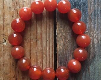 Carnelian | Super Chunky 12 mm | Spiritual Junkies | Yoga + Meditation | Mala Bracelet