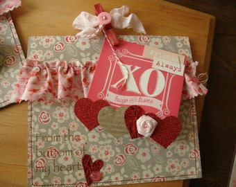 Paper gift bag paper sack gift pocket for Candy bar Valentine's Day party favor bag gift card holder paper treat container gift wrap Shabby