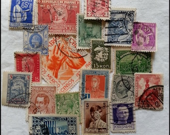 20 Different Postage Stamps