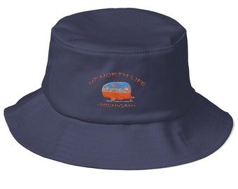 Michigan Camping Life - Old School Bucket Hat