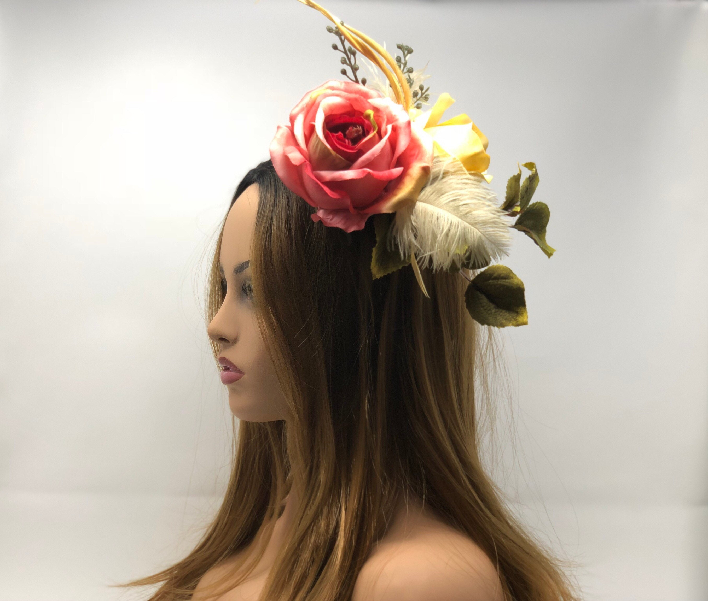 Flower Crown Floral Headpiece Headband Renaissance Flower