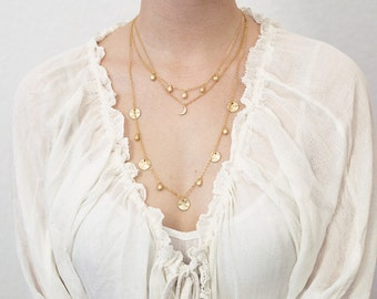 Gilded layering necklace