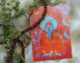 "Postcard Buddha ART ""Just Be"""