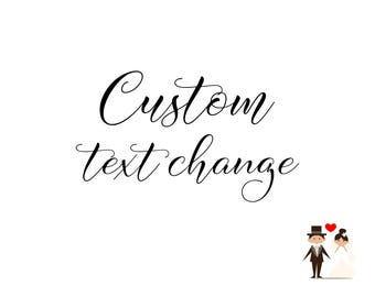 Custom Text Change, Change Or Add Text To Any Design