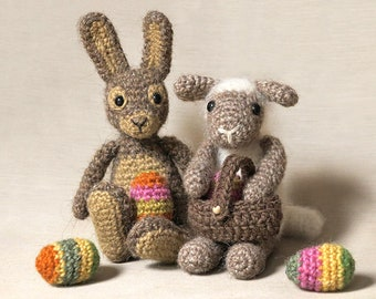 Spring & Easter pack - Crochet rabbit and lamb patterns amigurumi