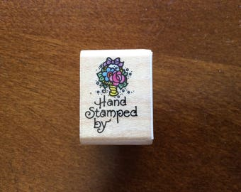 "STAMPENDOUS ""Hand Stamped By"" Stamp 