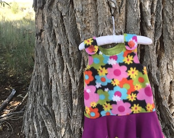 Childs Dress, Flouncy Fleece Tunic- Dress
