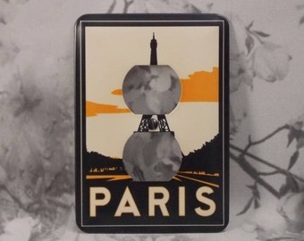 Metal Paris Traveling Posters Outlet Cover - 10DR Dual Plex Outlet - Dual Outlet Traveling Posters
