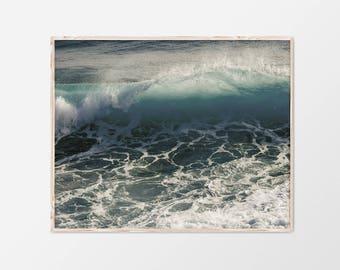 Coastal Wall Art, Large Beach Wall Art, Modern Coastal Decor, Abstract Beach Print, Coastal Wall Print, Abstract Coastal Art, Sea Wave Decor