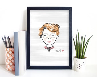 Stranger Things Barb Illustrated TV Art Print Sizes - A4/A5/5 x 7""