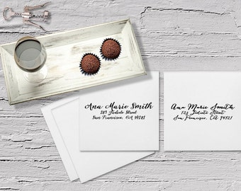 Calligraphy Printing / Guest Addressing / Digital Calligraphy / Wedding Calligraphy / Recipient Envelope Addressing for Wedding Invitations