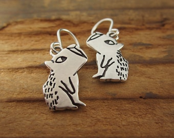 Little Capybara Earrings - Sterling Silver Wild Animal Earrings