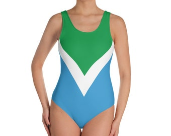 Vegan Flag One-Piece Swimsuit