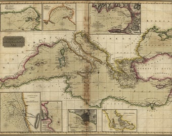 Poster, Many Sizes Available; Map Chart Of The Mediterranean Sea 1817