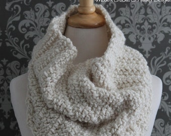 Crochet PATTERN - Digital Download Crochet Pattern - Cowl Crochet Pattern - Crochet Scarf Pattern - Infinity Scarf Crochet Pattern - PDF 423