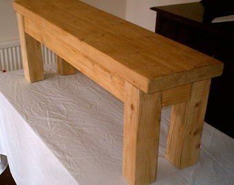 Hand Made Rustic Solid Wood Kitchen Bench 026