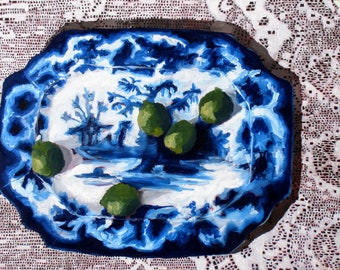 Limes and Blue Platter